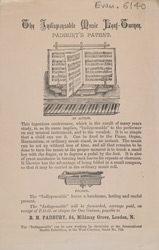 Advert for Padbury's music leaf turner